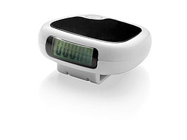 Трекинговый шагомер с экраном LCD Trackfast, белый/черный (артикул 10030300)