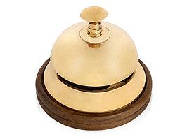 Настольный звонок для совещаний, золотистый/коричневый (артикул 51132)