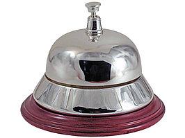 Настольный звонок для совещаний, серебристый/красное дерево (артикул 510500)