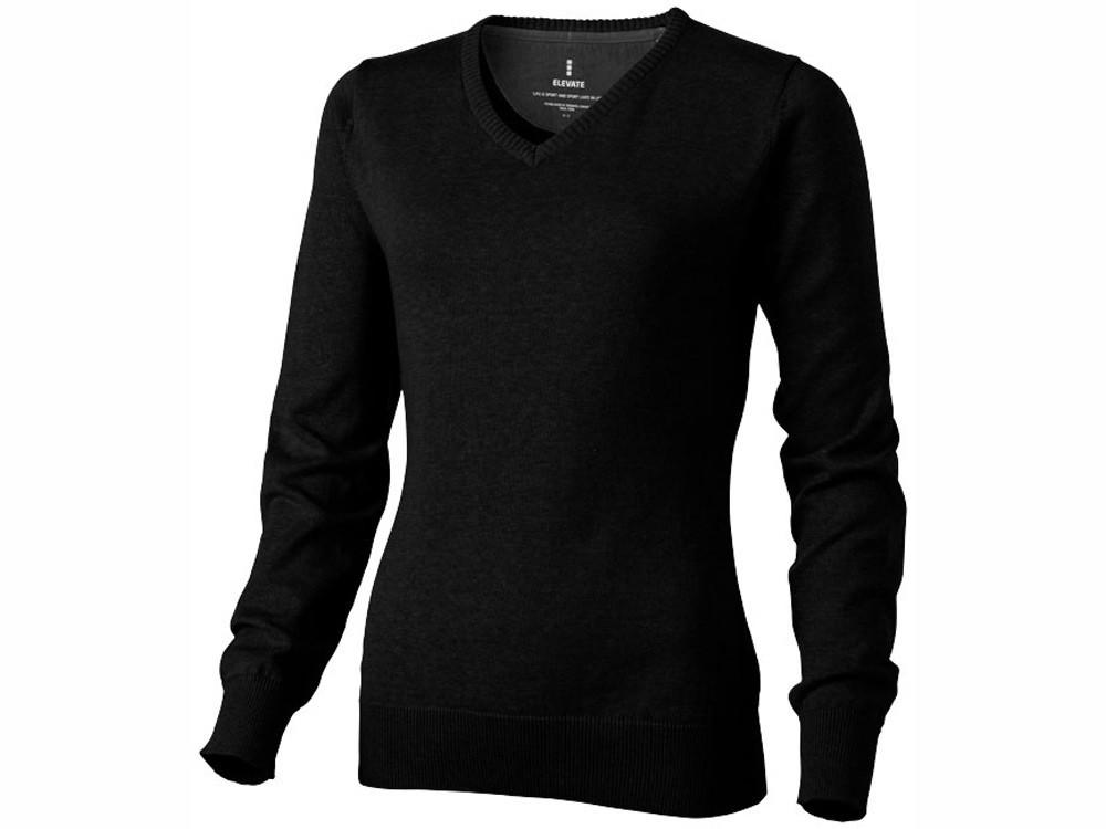 Пуловер Spruce женский с V-образным вырезом, черный (артикул 38218992XL)