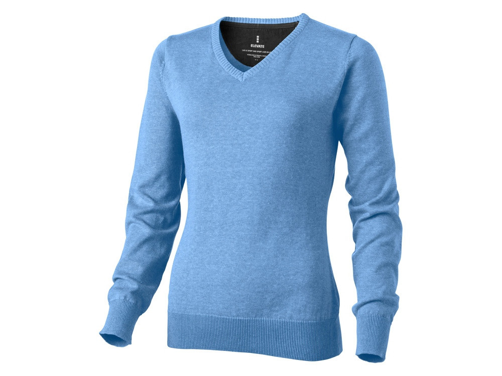 Пуловер Spruce женский с V-образным вырезом, светло-синий (артикул 3821840XS)