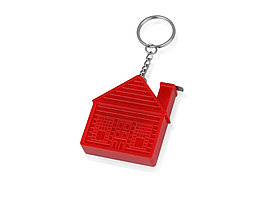 Брелок-рулетка Домик, 1 м., красный (артикул 715961)