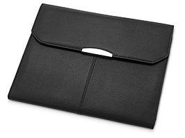 Папка для документов с блокнотом и калькулятором, черный (артикул 923947)