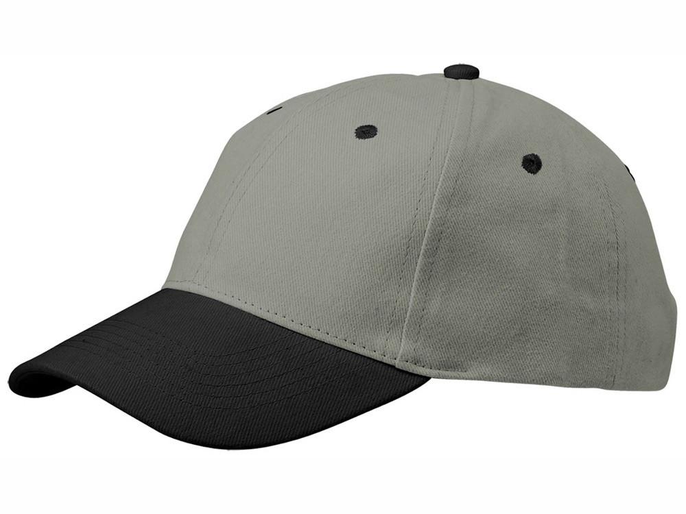 Бейсболка Grip, серый/черный (артикул 13403800)