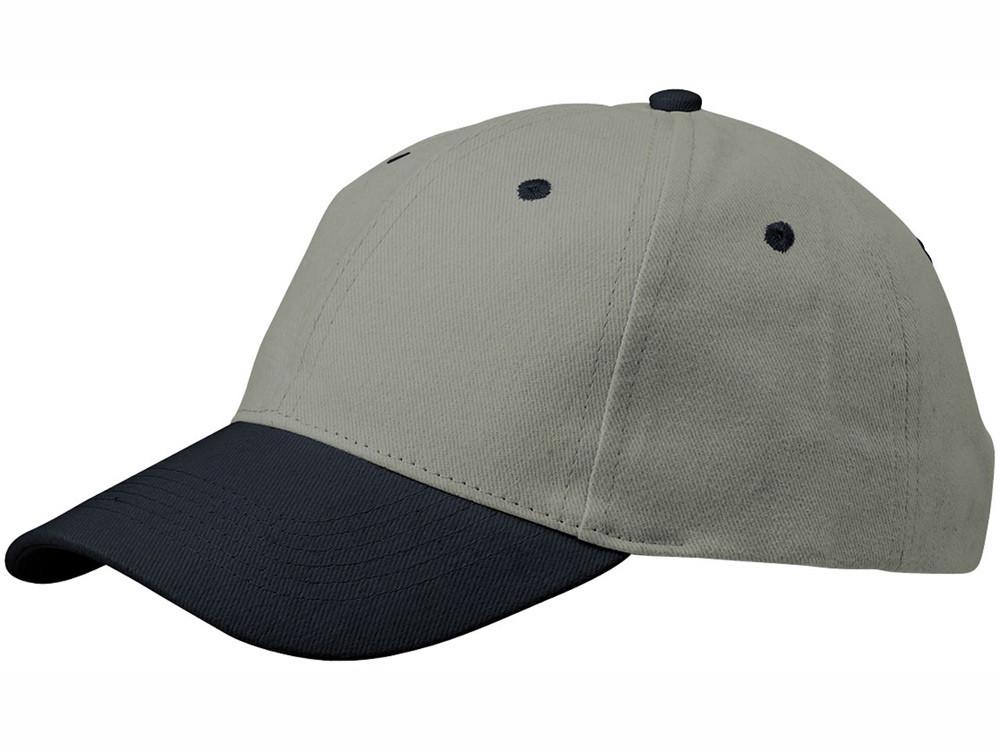 Бейсболка Grip, серый/темно-синий (артикул 13403802)