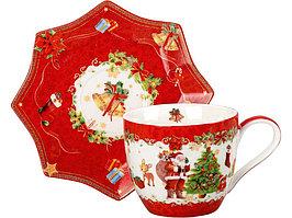 Чайная пара Санта Клаус, красный (артикул 82184)