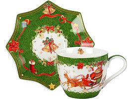 Чайная пара Санта Клаус, зеленый (артикул 82185)