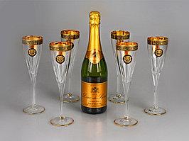 Набор бокалов для шампанского Сила льва (артикул 685026)