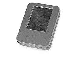 Подарочная коробка для флеш-карт Сиам, серебристый (артикул 627220)