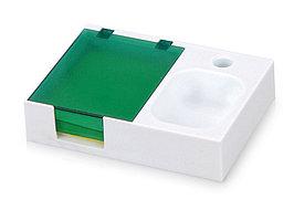 Подставка под ручку и скрепки Потакет, белый/зеленый (артикул 599403)