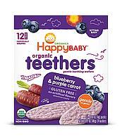 Органические галеты HappyBaby Черника Фиолетовая морковь
