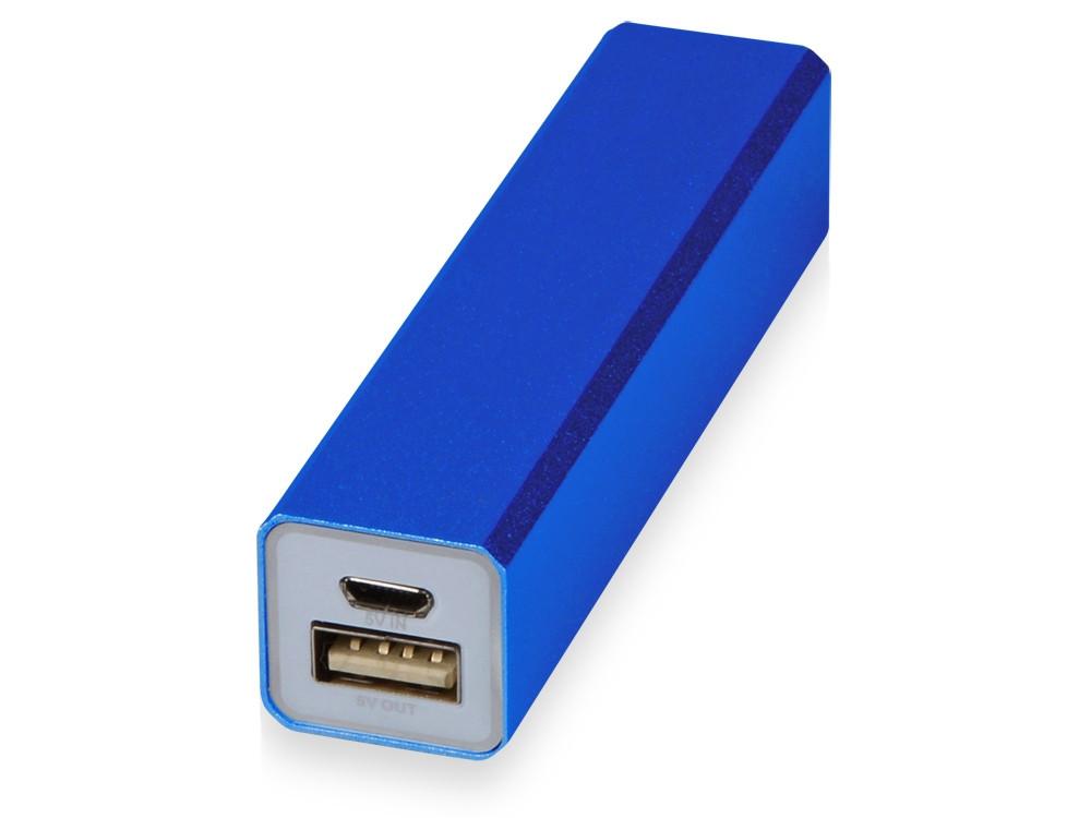 Портативное зарядное устройство Брадуэлл, 2200 mAh, синий (артикул 392432)