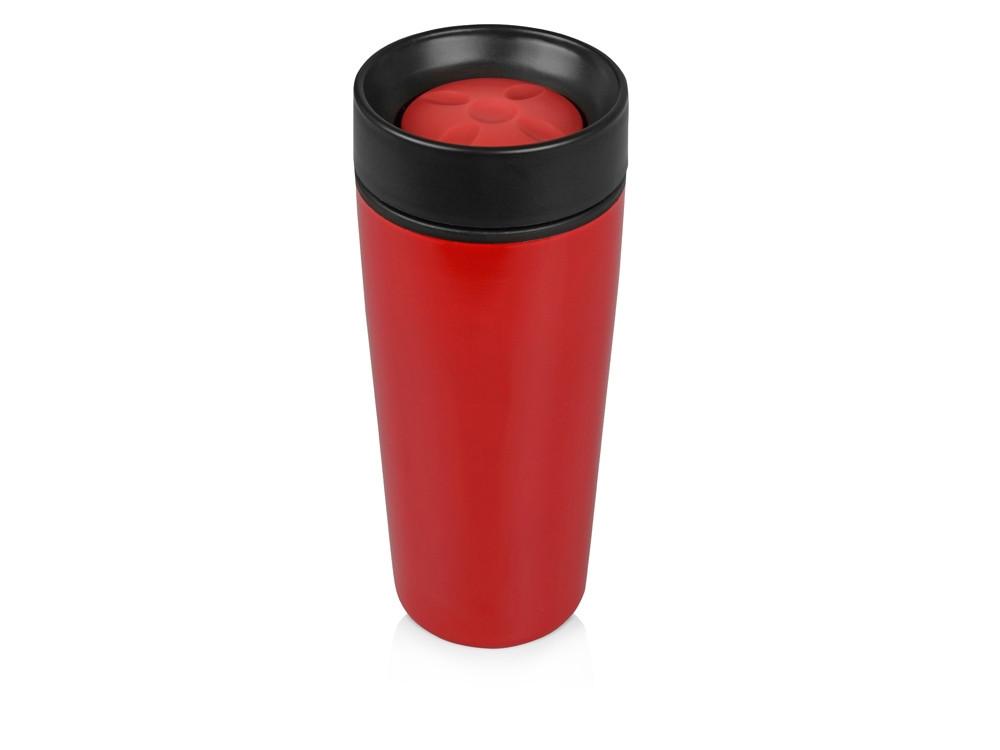 Кружка с термоизоляцией на 450 мл, красный (артикул 828001)
