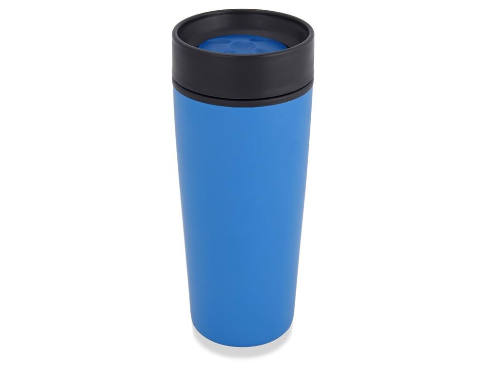 Кружка с термоизоляцией на 450 мл, синий (артикул 828002)