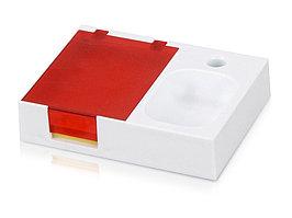 Подставка под ручку и скрепки Потакет, белый/красный (артикул 599401)