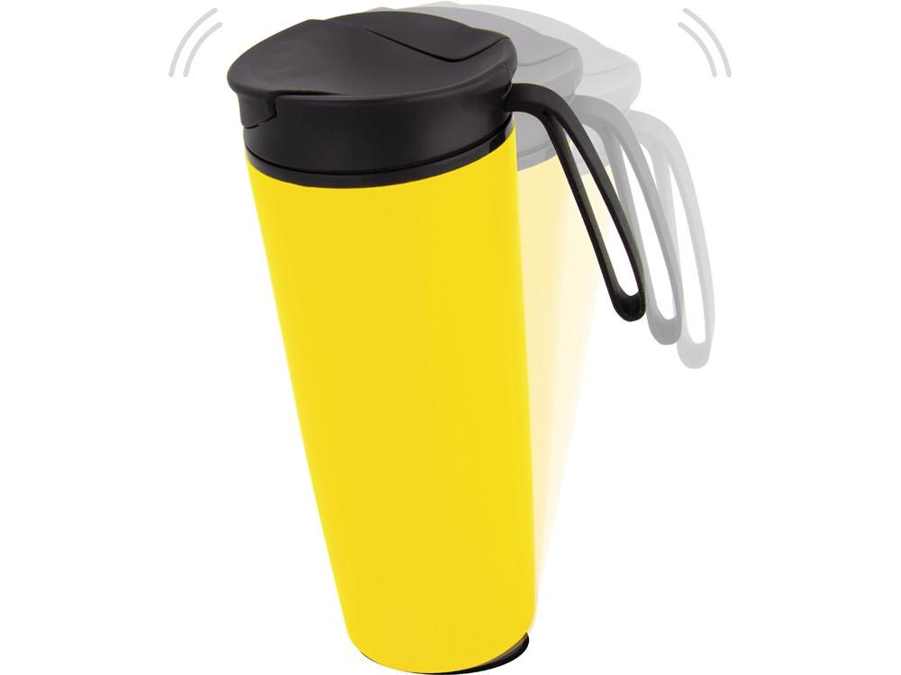 Термокружка Годс 470мл на присоске, желтый (артикул 821104)