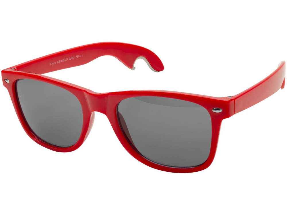 Солнцезащитные очки-открывашка, красный (артикул 10042502)