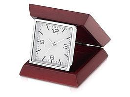 Часы настольные Либерал, темно-коричневый/серебристый (артикул 132509)