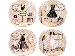Набор из четырех десертных тарелок Высокая мода (артикул 82183)