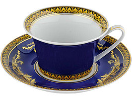 Чайная пара Versace Medusa, синий/золотистый (артикул 82518)