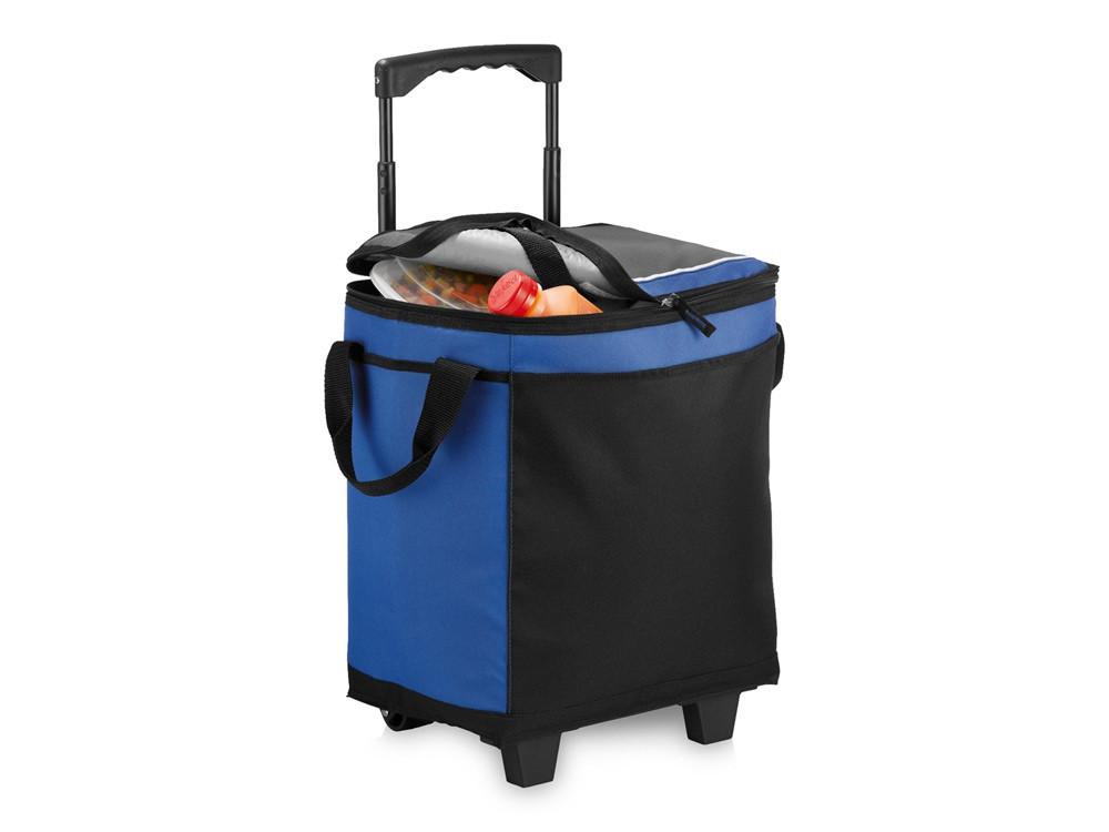 Сумка-холодильник на роликах на 32 банки, ярко-синий/черный (артикул 12016500)
