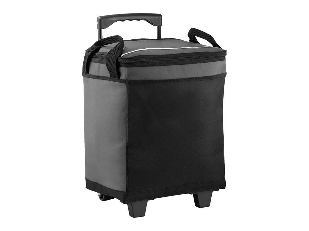 Сумка-холодильник на роликах на 32 банки, серый/черный (артикул 12016501)