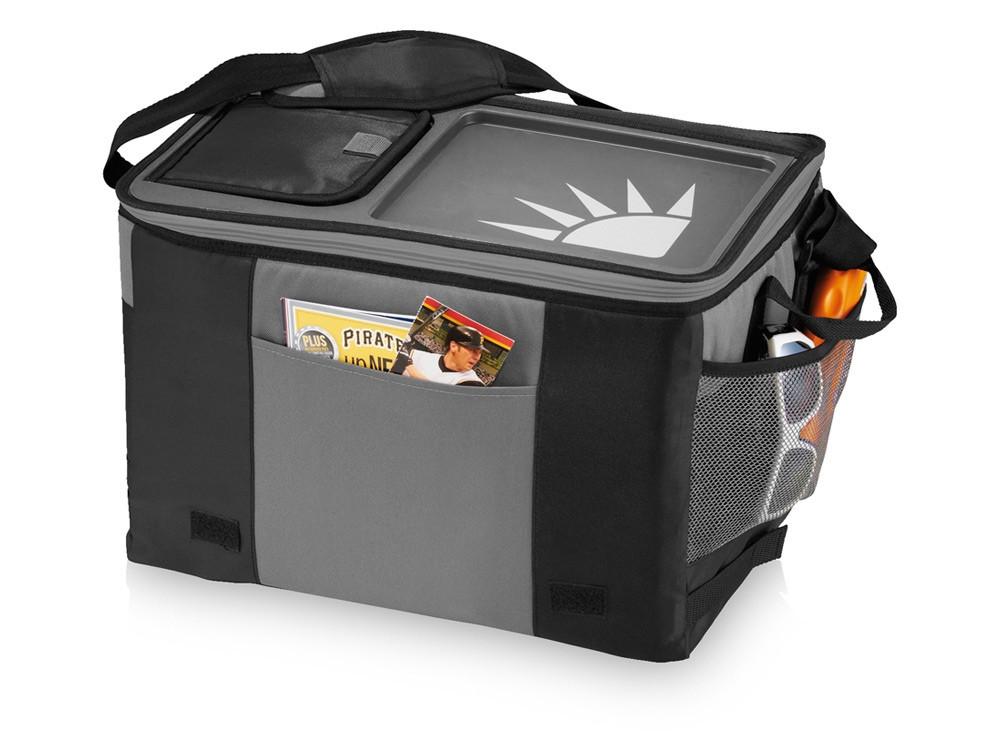 Сумка-холодильник на 50 банок с подносом, черный (артикул 12016600)