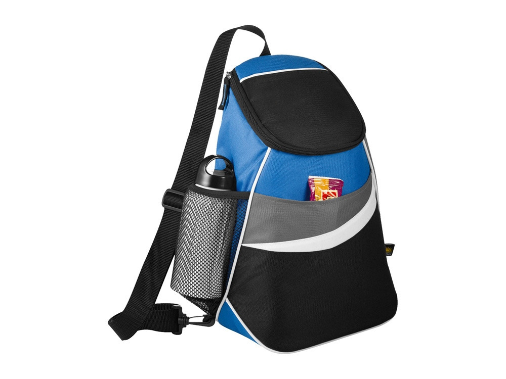 Сумка-холодильник через плечо на 12 банок, синий/черный (артикул 12016701)
