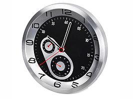 Часы настенные Астория, серебристый/черный (артикул 182310)