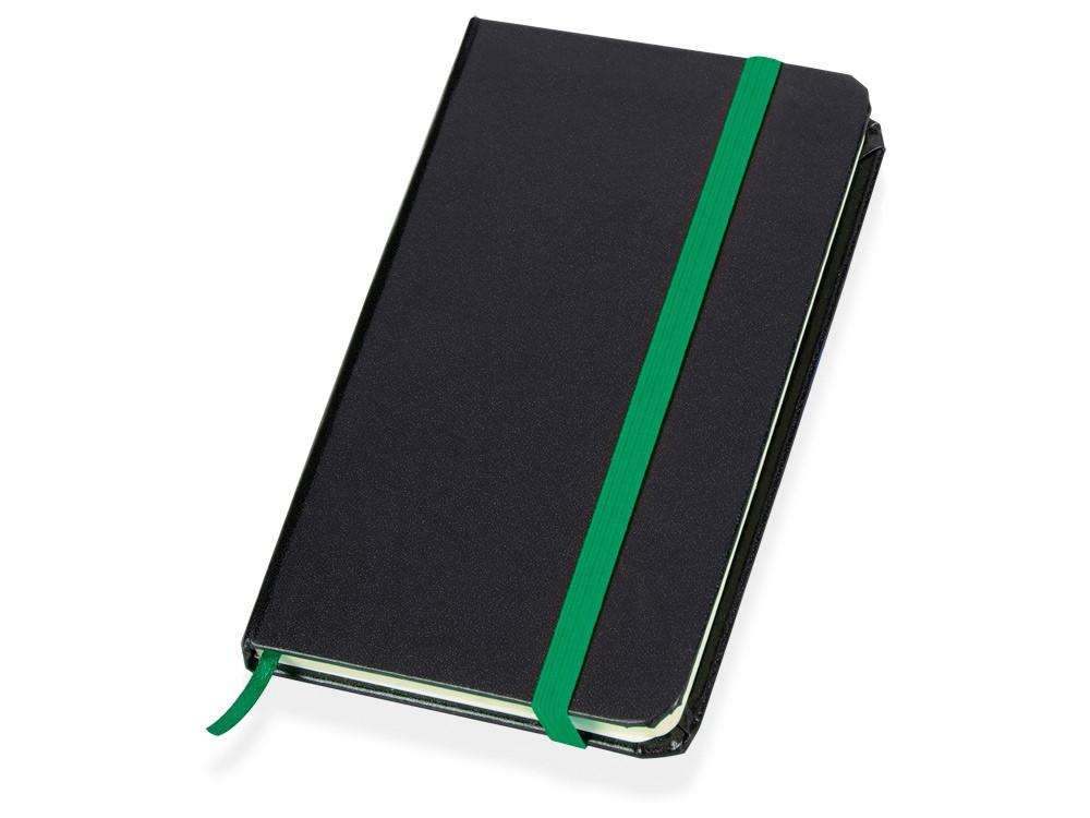 Блокнот Имлес, черный/зеленый (артикул 789603)