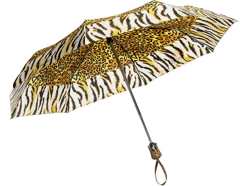 Зонт складной Ferre, автомат желтый/черный (артикул 905790)
