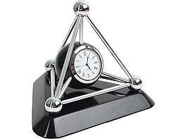 Часы настольные Атом, черный/серебристый (артикул 108019)