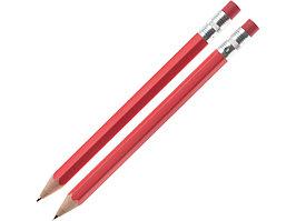 Набор Даллас: ручка шариковая, карандаш с ластиком в футляре, красный (артикул 52360.01)
