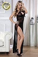Платье Candy Girl Jaylyn длинное с высоким разрезом, черное, OS