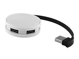 USB Hub Round, на 4 порта, белый/черный (артикул 13419100)