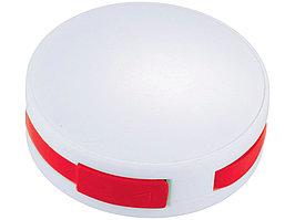 USB Hub Round, на 4 порта, белый/красный (артикул 13419102)