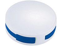 USB Hub Round, на 4 порта, белый/ярко-синий (артикул 13419103)