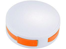 USB Hub Round, на 4 порта, белый/оранжевый (артикул 13419104)