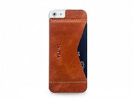 Кошелек-накладка на iPhone 5/5s и SE, коричневый (артикул 149608)