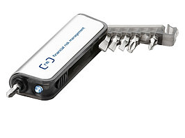 Мини-набор инструментов с фонариком, отвертка с 6 насадками (артикул 10411500)