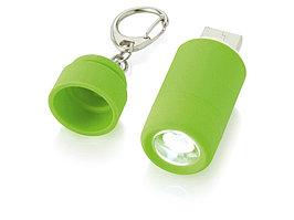 Мини-фонарь Avior с зарядкой от USB, зеленый (артикул 10413802)