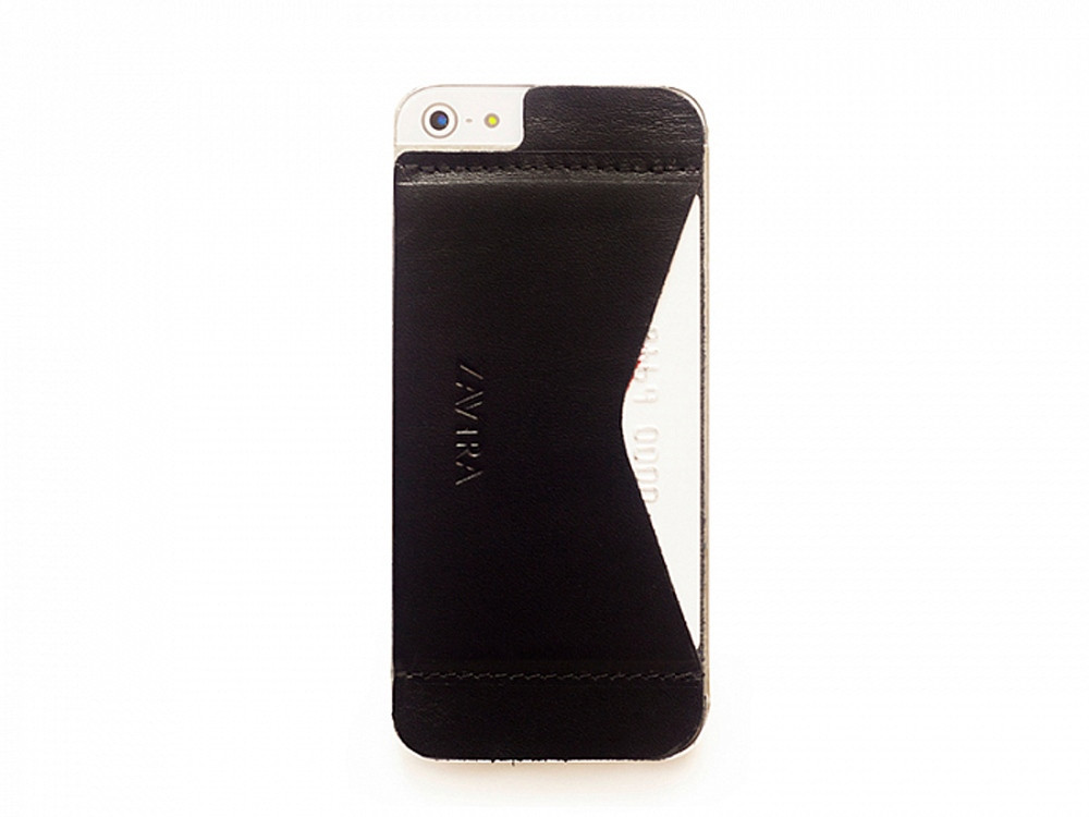 Кошелек-накладка на iPhone 5/5s и SE, черный (артикул 149607)