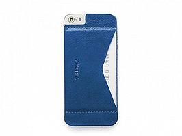 Кошелек-накладка на iPhone 5/5s и SE, синий (артикул 149602)