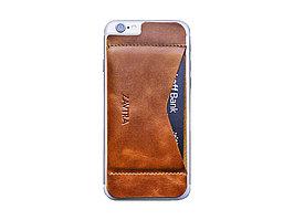 Кошелек-накладка на iPhone 6/6s, коричневый (артикул 159608)