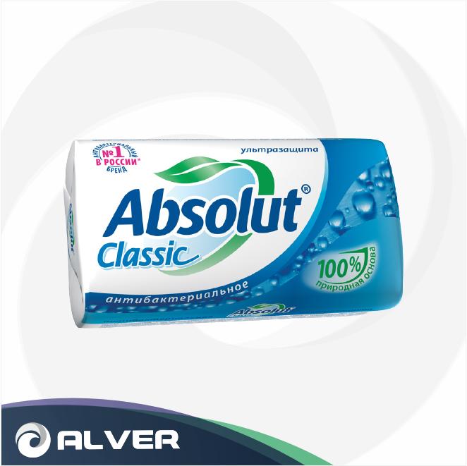 Мыло антибактериальное Абсолют Ультразащита 90гр