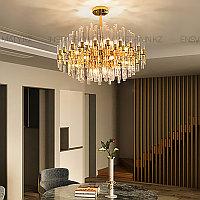 Люстра в стиле modern, на 10 ламп, цвет золото, цоколь Е14, фото 1