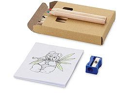 Набор для рисования: 6 цветных карандашей, точилка, раскраска (артикул 10621800)