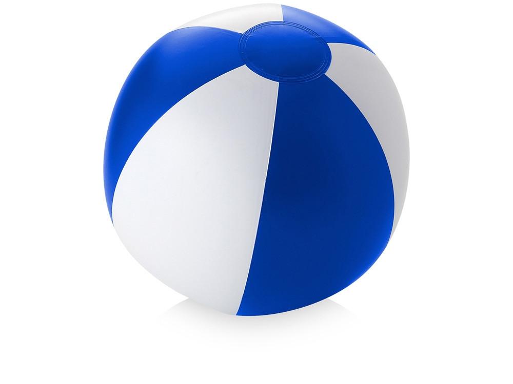 Пляжный мяч Palma, ярко-синий/белый (артикул 10039601)