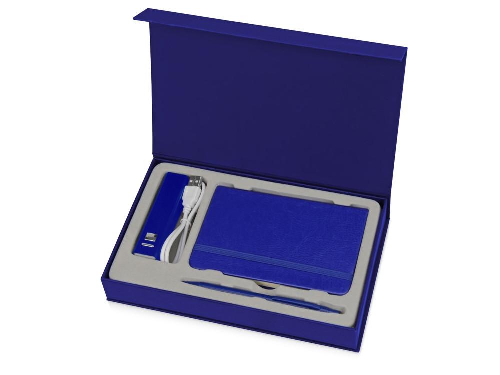 Набор для записей с пауэрбэнком Ион, синий (артикул 881402)