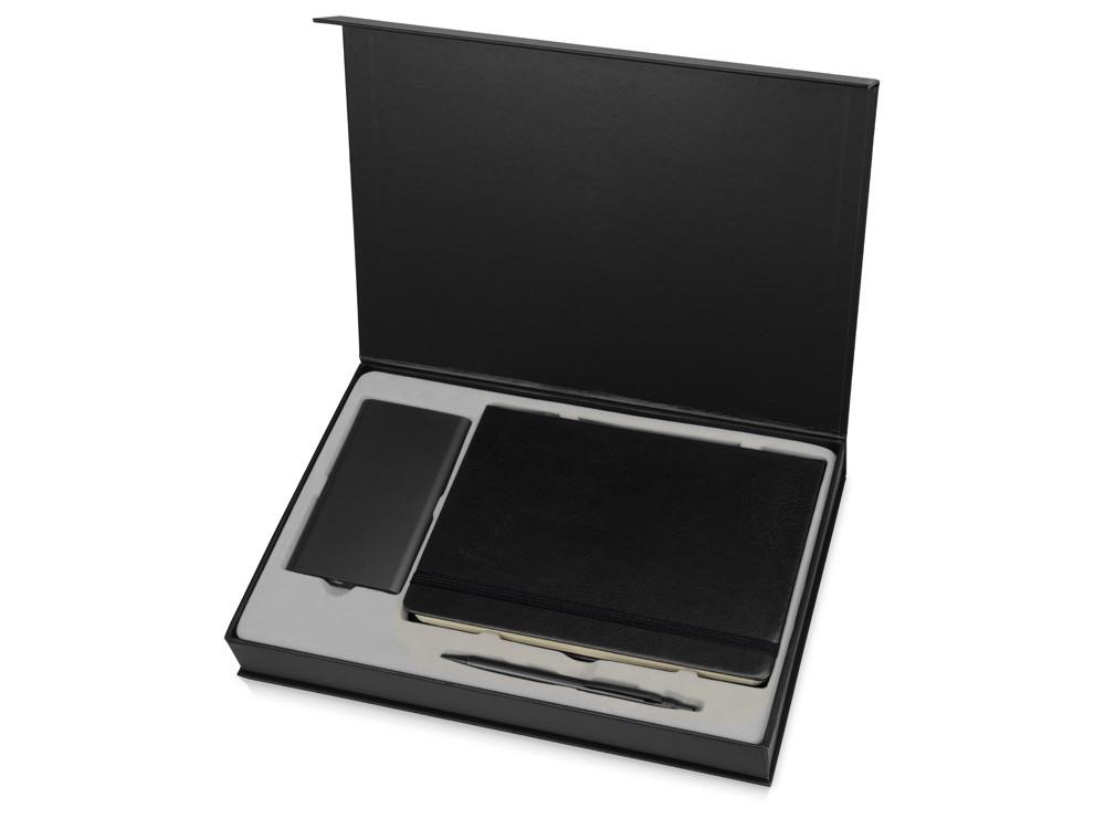 Набор для записей с пауэрбэнком Бласт, черный (артикул 891407)